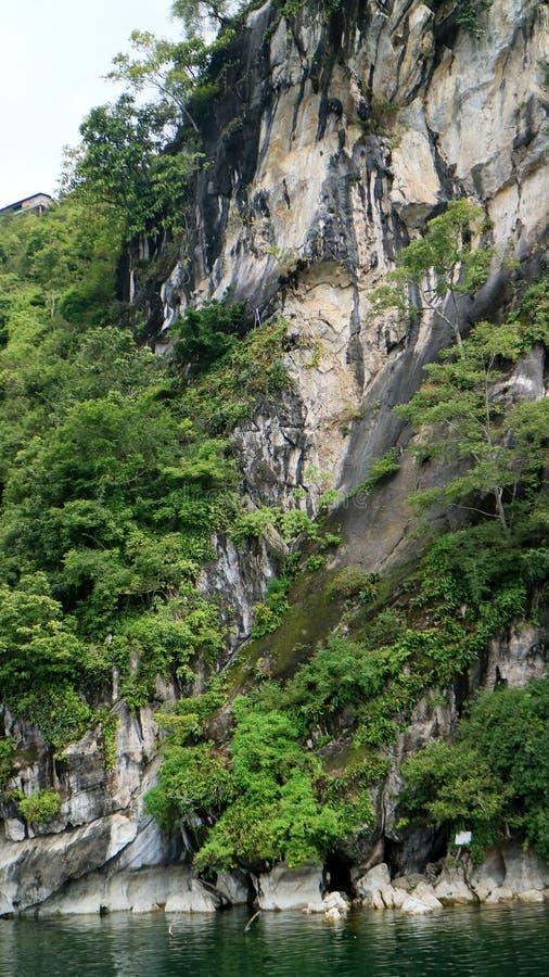 Batu Gantung. Or hanging stone in Lake Toba, Simalungun Regency, North Sumatra, Indonesia royalty free stock image