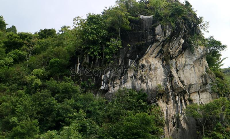 Batu Gantung. Or hanging stone in Lake Toba, Simalungun Regency, North Sumatra, Indonesia stock photography