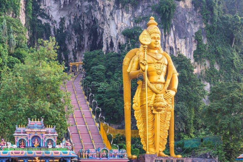 Batu grottor staty och ingång fotografering för bildbyråer