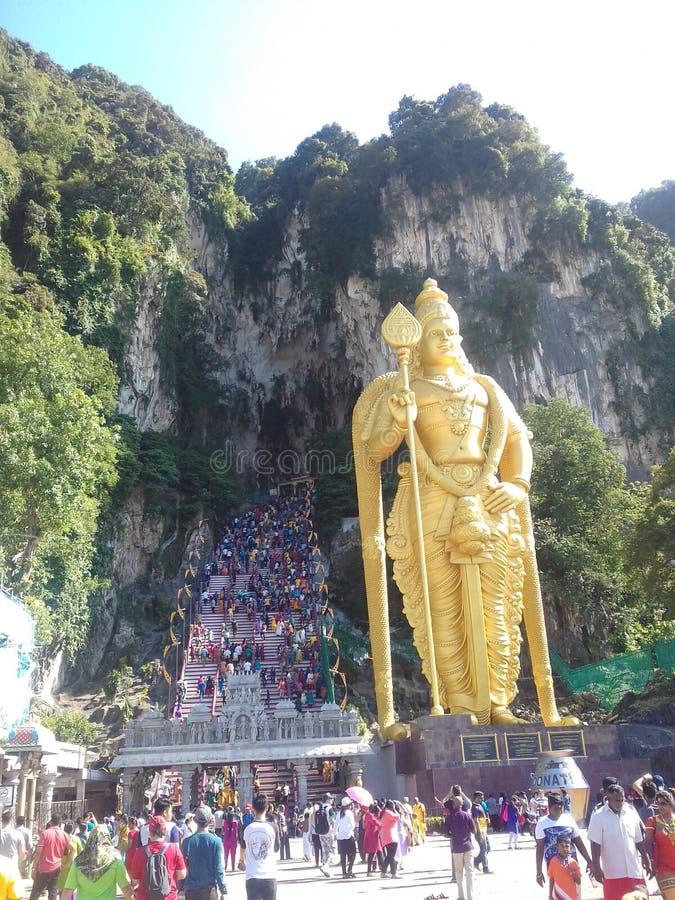 Batu-Höhle murugan lizenzfreies stockfoto