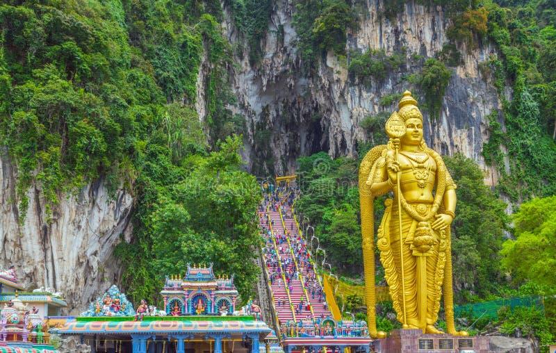 Batu Jaskiniowa władyka Murugan w Kuala Lumpur, Malezja zdjęcia stock
