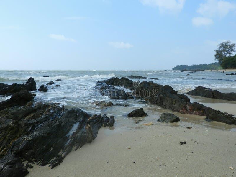 Batu Layar Beach arkivbilder