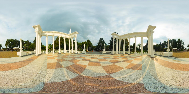Batume乔治亚360 Vr全景 库存照片