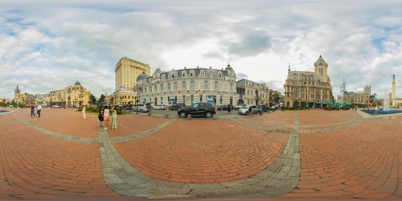 Batume Georgia 360 Vr panorama royaltyfria foton