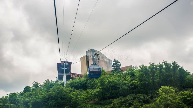 BATUMI, ΓΕΩΡΓΊΑ - 20 ΙΟΥΛΊΟΥ: άποψη από cableway καμπινών στοκ εικόνα με δικαίωμα ελεύθερης χρήσης