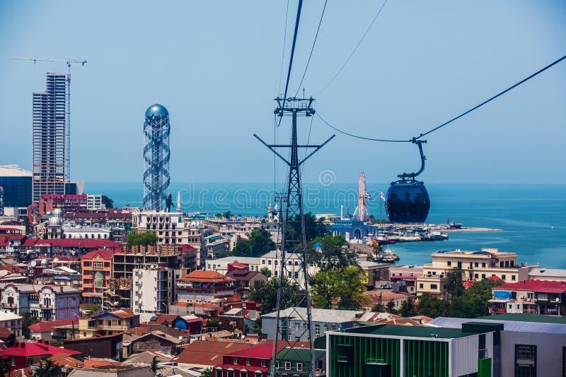 BATUMI, ΓΕΩΡΓΊΑ - 20 ΙΟΥΛΊΟΥ: άποψη από cableway καμπινών στοκ φωτογραφίες με δικαίωμα ελεύθερης χρήσης
