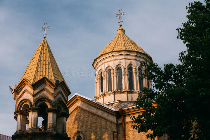Batumi, Adjara, Geórgia Igreja apostólica arménia fotografia de stock royalty free