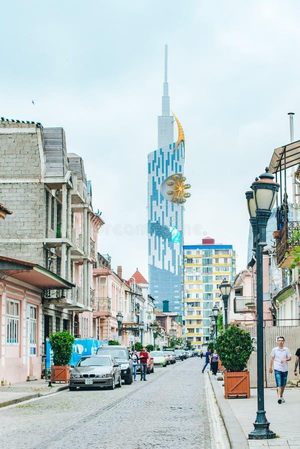 BATUMI ADJARA, GEORGIA - Juni 1, 2014: Batumi stadsgator royaltyfria foton