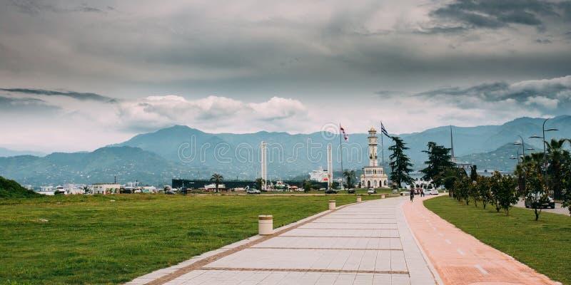 Batumi, Adjara, Gruzja Przejście Chacha wierza Lokalny punkt zwrotny obraz royalty free