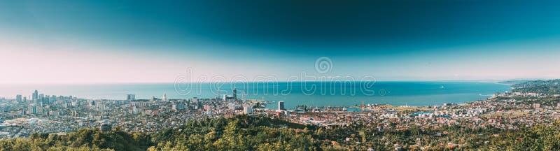 Batumi, Adjara, la Géorgie Panorama, vue aérienne du paysage urbain urbain images stock