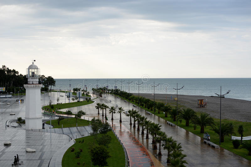 Batumi embankment stock image