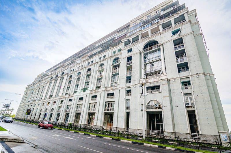 Batumi, Georgië - Mei 7, 2017 Architectonische complexe Magnolia met flats en restaurants royalty-vrije stock foto's