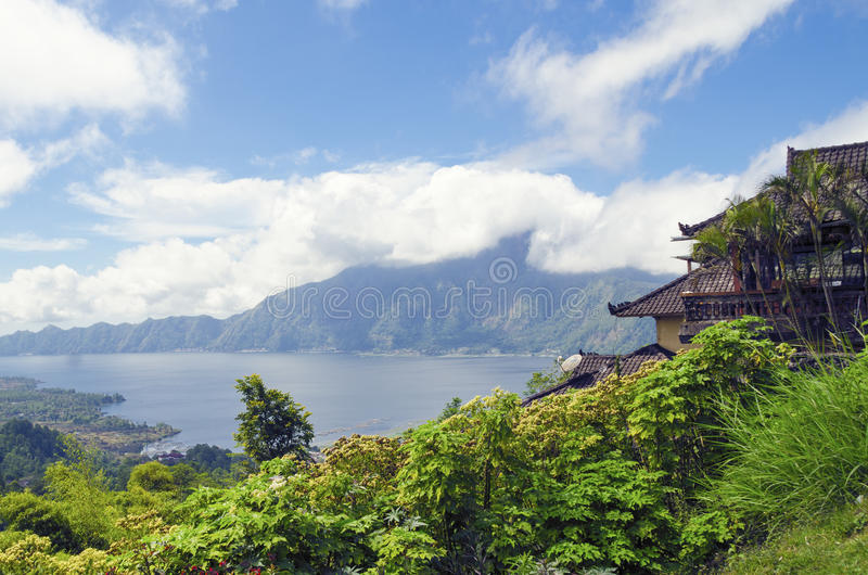 Batur sjö arkivbild