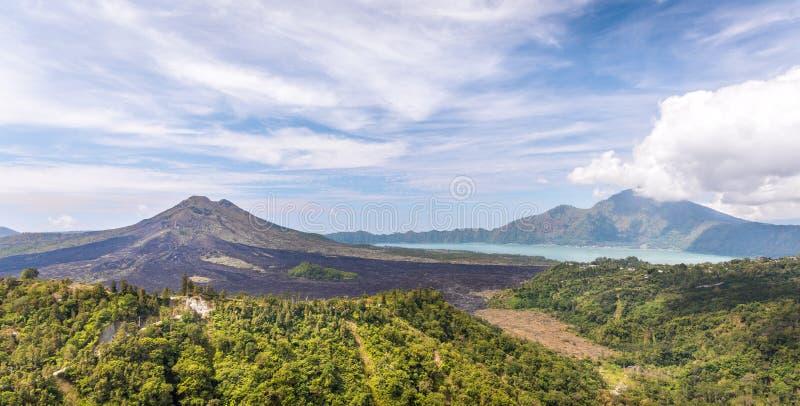 Batur volcano, Bali royalty free stock photos