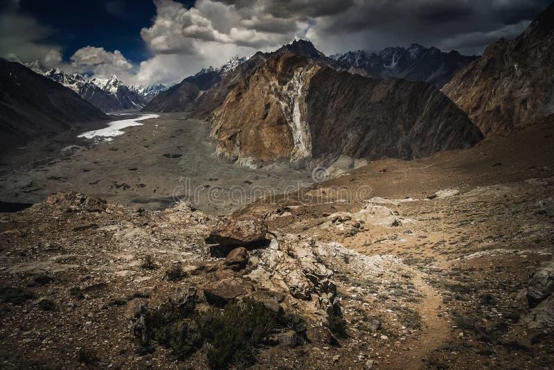 Batura Gletscher stockfotos