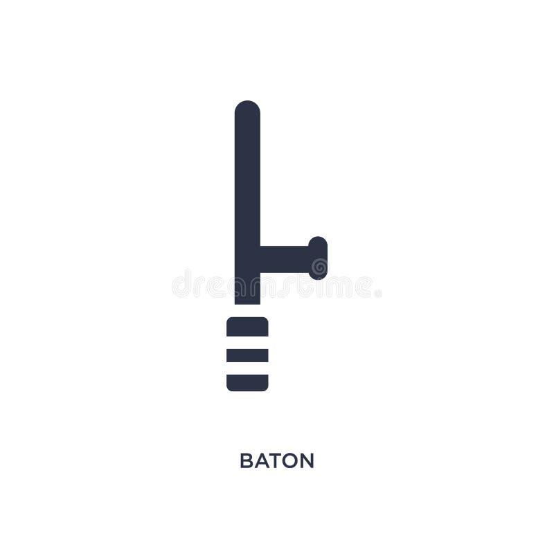 batuty ikona na białym tle Prosta element ilustracja od prawa i sprawiedliwości pojęcia ilustracji