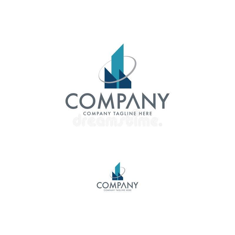 Bau, Architektur und Real Estate Logo Template lizenzfreie abbildung