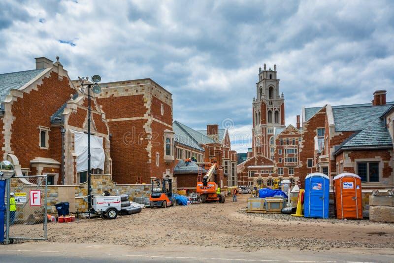 Bau bei Yale University, in New-Haven, Connecticut lizenzfreies stockbild