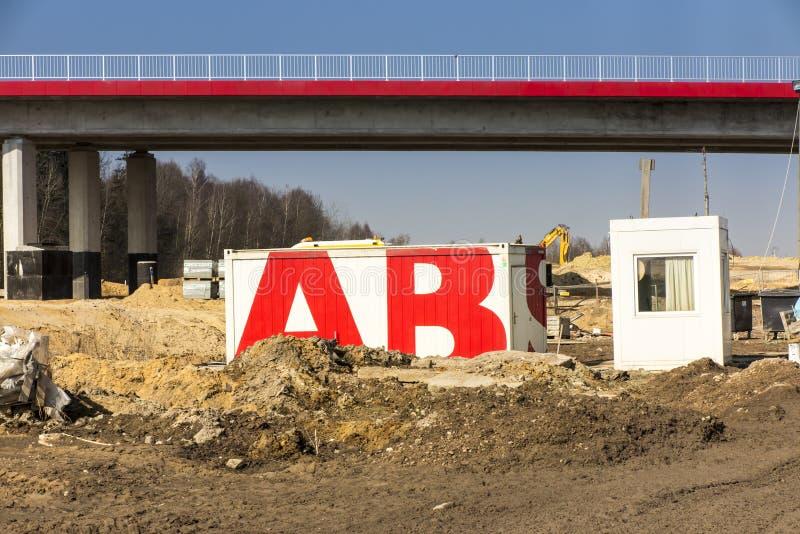 Bau der Autobahn A1 in Polen lizenzfreie stockbilder