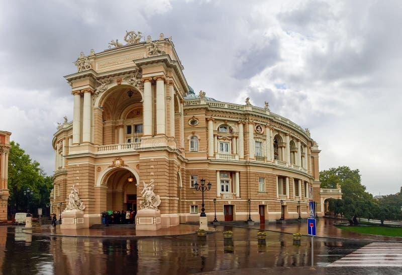 Bau der Odesa-Oper und Balletttheater, Ukraine lizenzfreie stockfotografie
