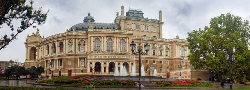 Bau der Odesa-Oper und Balletttheater, Ukraine stockfotografie