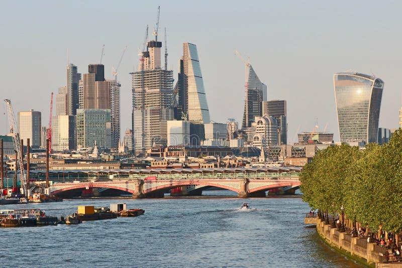 Bau in der Stadt von London stockfotos
