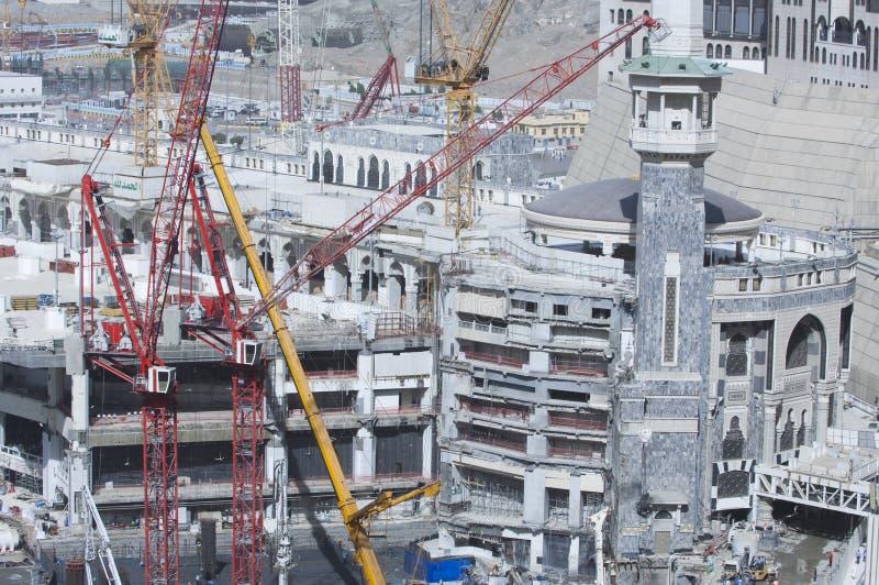Bau des Al--Masjidals-c$haram um Al Kaaba stockfotografie