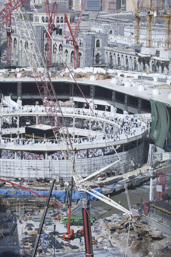 Bau des Al--Masjidals-c$haram um Al Kaaba lizenzfreie stockbilder