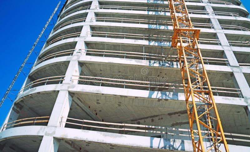 Bau des großen Handelsgebäudes stockfoto