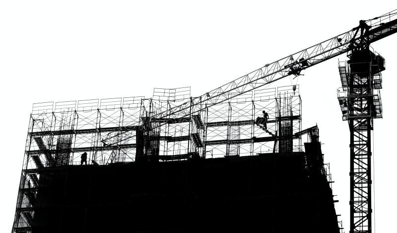 Bau des großen Umfangs im Entwurf stockfotos