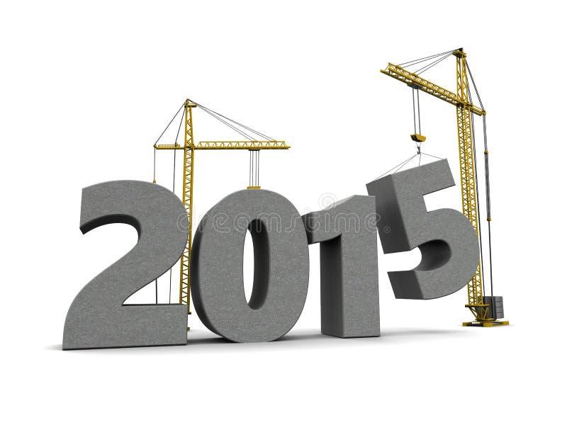 Bau des neuen Jahres lizenzfreie abbildung