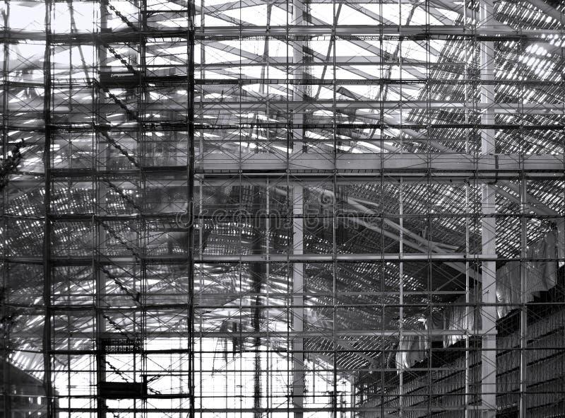 Bau eines großen Komplexes stockfotos