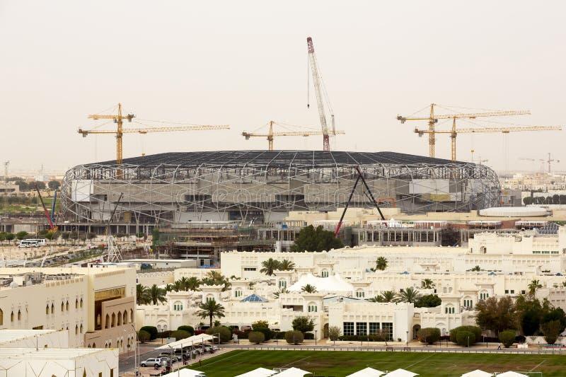 Bau-Fußballstadion Dohas, Katar lizenzfreie stockbilder