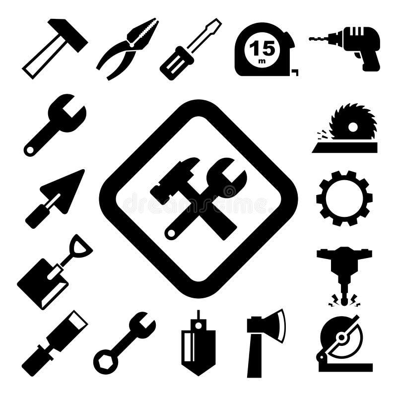 Bau-Ikonen eingestellt lizenzfreie abbildung