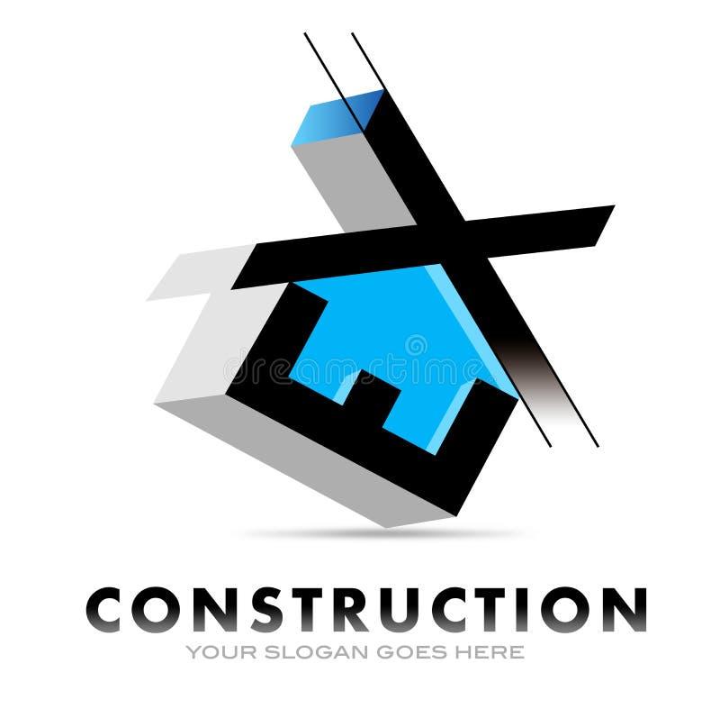 Bau-Logo stock abbildung