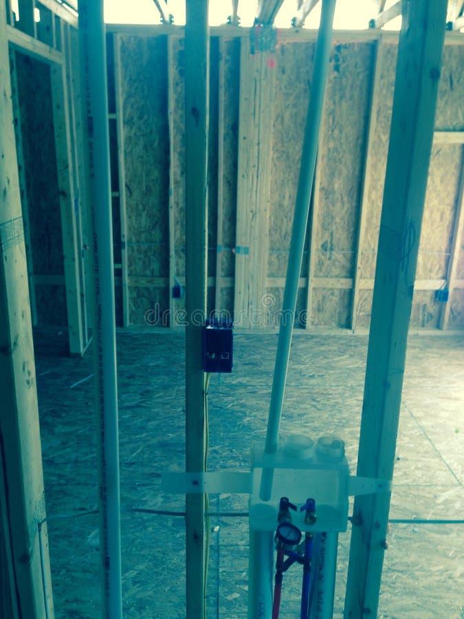 Bau oben breitet aus stockfotografie