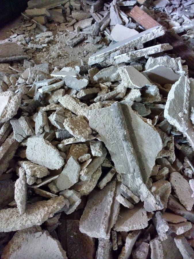 Bau-Rückstand nach Demolierung lizenzfreie stockbilder