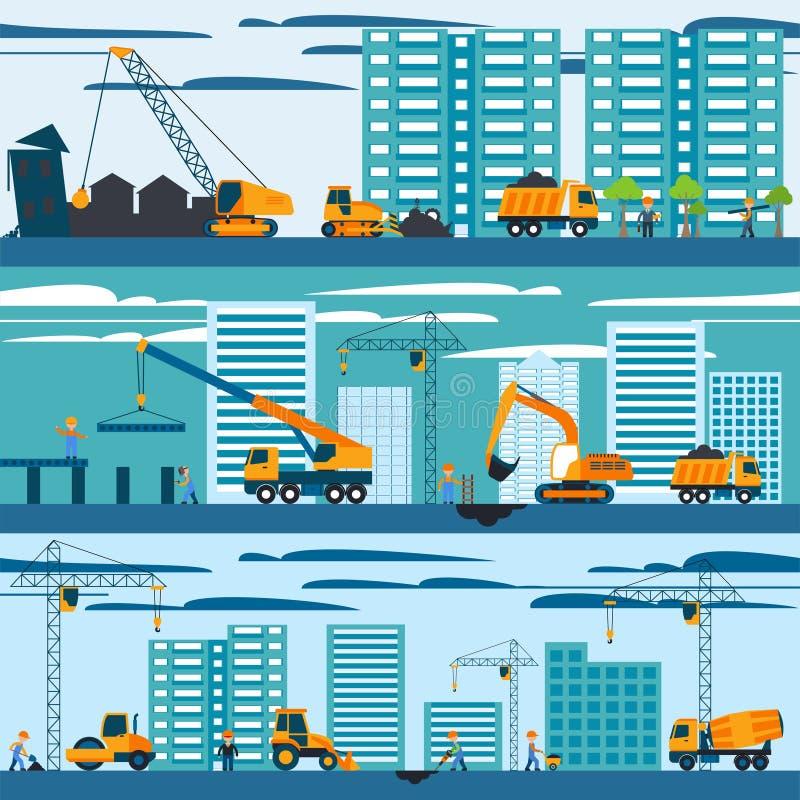 Bau- und Gebäudekonzept stock abbildung