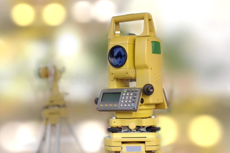 Bau- und Technikwerkzeug, Tachymeter stockbild