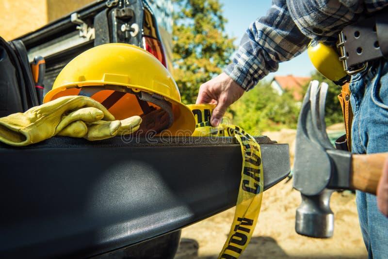 Bau-Zonen-Sicherheit lizenzfreie stockfotos