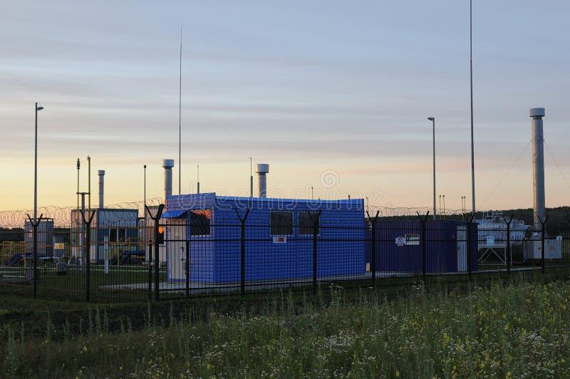 Bauanhänger für Arbeitskräfte Wohnmetallhaus für Erbauer lizenzfreies stockfoto