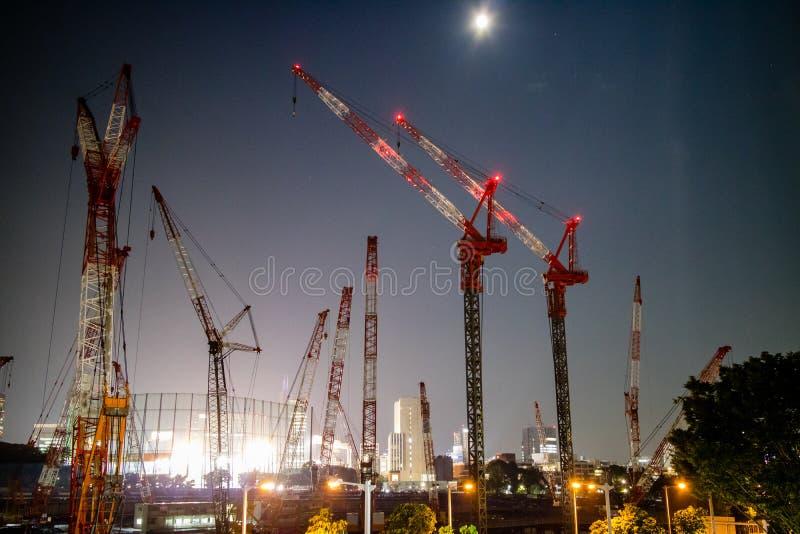 Bauarbeit, bereit zum Tokyo 2020 Olympics 4 erhalten stockbild