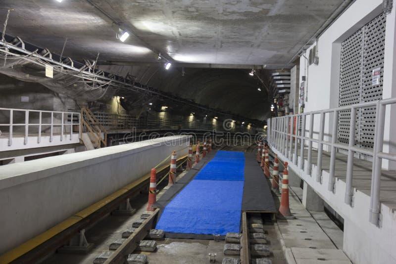 Bauarbeiten Rio Metros zu den Olympics 2016 lizenzfreies stockbild