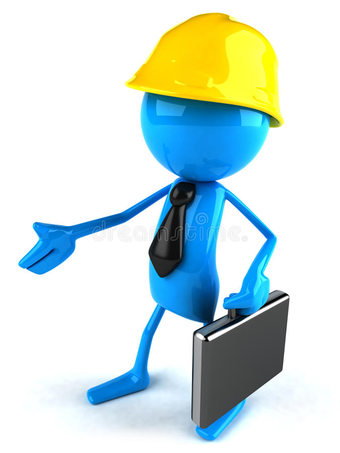 Bauarbeiter stock abbildung