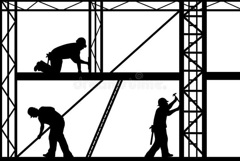 Bauarbeiter vektor abbildung