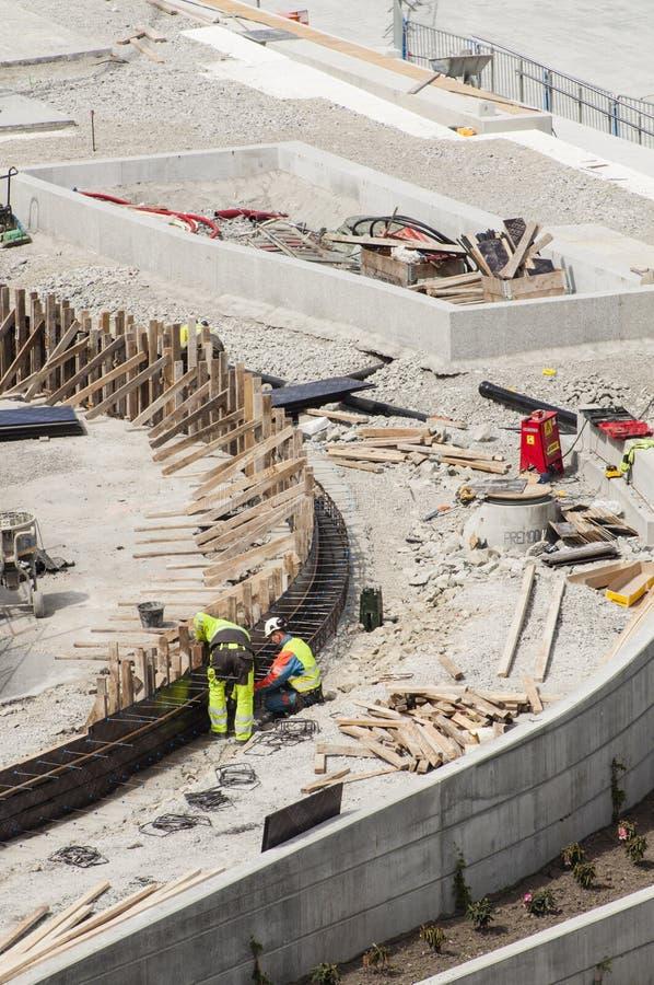 Bauarbeiter Redaktionelles Foto