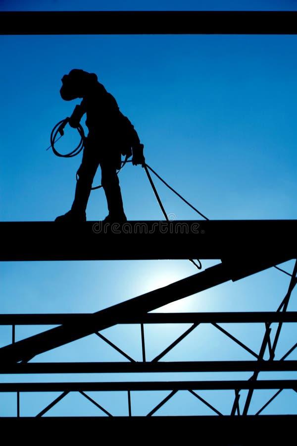 Bauarbeiter. lizenzfreies stockbild