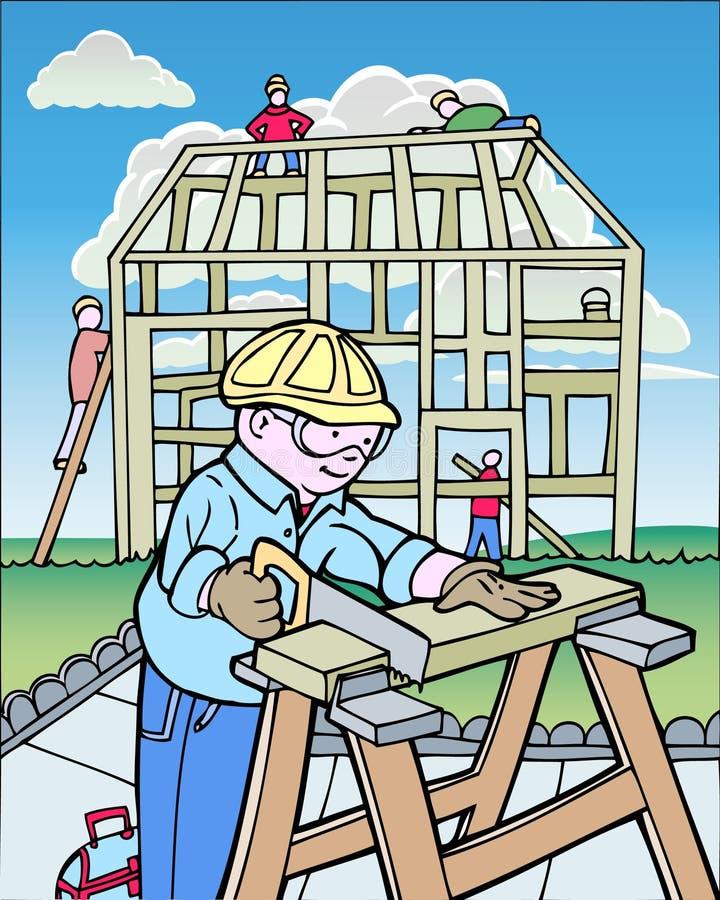 Bauarbeiter lizenzfreie abbildung
