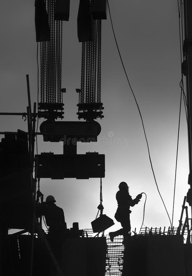 Bauarbeiter draußen stockbilder
