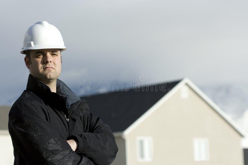 Bauarbeiter oder Fremdfirma stockbilder